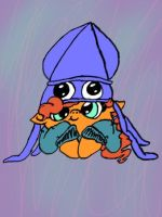 Rain Cloud and her squid hat by Rabies-the-Squirrel