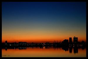 Sunset Across The River by Delrificus