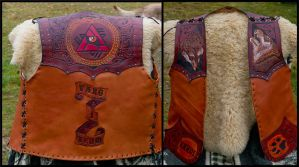Varg I veum Leather Vest by Wodenswolf