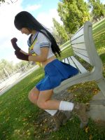 Ikki Tousen - Getting ready for a fight by RiiCosplay
