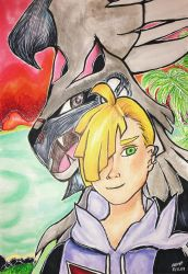 Gladion and Silvally by heleniscool