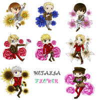 APH - Hetalia Flower by Silent-Glory