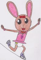 Amy the Ice Skater Bunny by DanielMania123