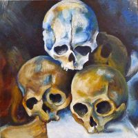 My copy of  Pyramid of skulls by Paul Cezanne by Primavera98