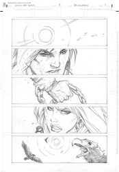 Conan vs Red Sonja page 1 by RandyGreen