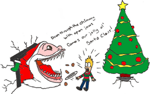 Santa Clause With Open Jaws by SeltzerAddict