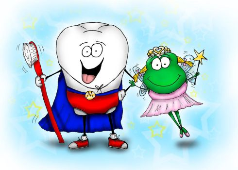 Super Tooth and Froggy Tooth Fairy by bnspencer