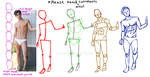 Drawing Male figure breakdown by Delight046