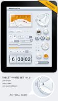 Tablet Phone UI White SET by diegomonzon