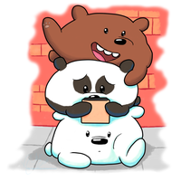 We Bare Bears: #bearstack -color- by mscherbear