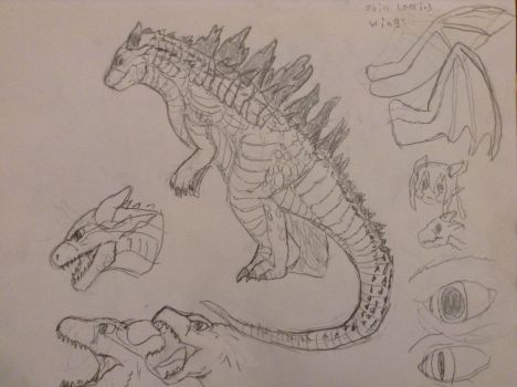 More Kaiju form sketches by AquaDestroyer