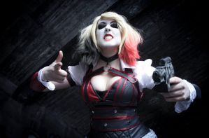 BAM! Harley Quinn Batman Knight Cosplay by Mitternachto