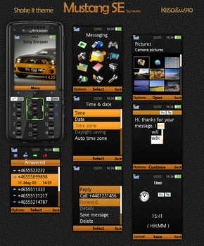 Mustang for SE K850 and W580 by ravixx