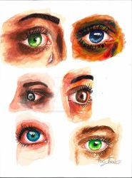 Primary colors eyes study by ForsThenebriss