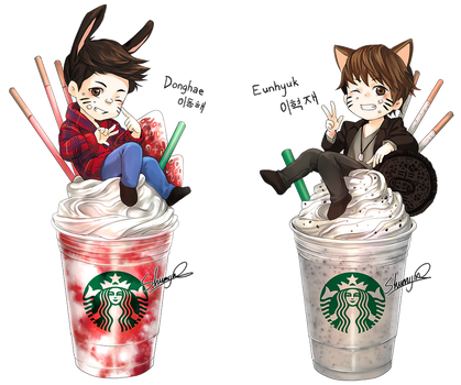 Commission: SUPER JUNIOR - Donghae and Eunhyuk by Shumijin