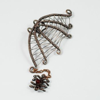 Spider Web Ear Cuff Version 2 - giveaway prize by Gailavira