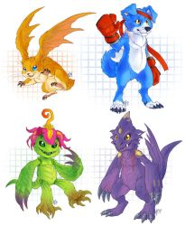 a bunch of Digimon by Kerneinheit