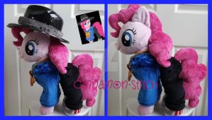 mlp plushie commission RAPPER PINKIE PIE by CINNAMON-STITCH