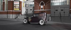 Ryman Auditorium and Hot Rod by PukinCat