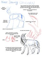 Horse Drawing: Unicorns by modesty