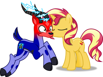 Trail grazer Kiss by Vector-Brony