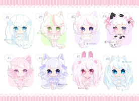 Smol Adopts 124 - Pastelicious! [CLOSED] by Shiina-Yuki