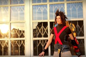 Terra - Watching sunset at Traverse Town by RoteMamba