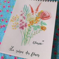 Bunch of flowers by Gloewen-Art