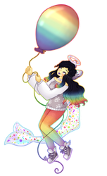 Balloon Babe [Booze-Shark DTA Entry] by Tinypaperdresses