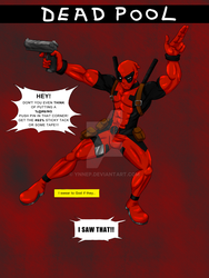 DEADPOOL POSTER V.1 by Ynnep