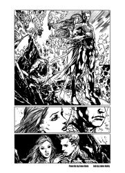 Aquaman by Ivan Reis - INK by Johnkelly-2011