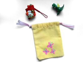 Fluttershy Drawstring Bag by DeiaVengen