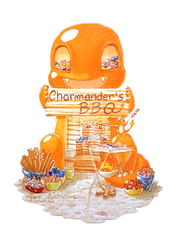 Charmander's BBQ FOR SALE! by nymei