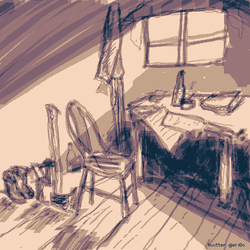 quiet place in the weather station - sketch by doomiest