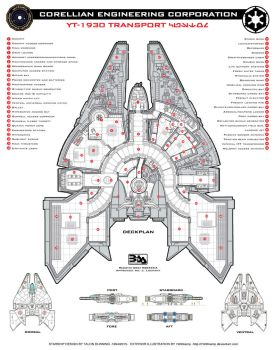 Corellian YT-1930 Deckplan by Everwho