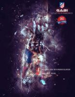 Gabi Atletico de Madrid by InfiernoRojiblanco