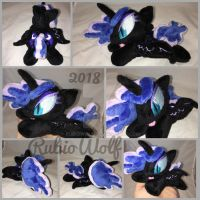 MLP 6 inch mini Nightmare Moon beanie [Commission] by RubioWolf
