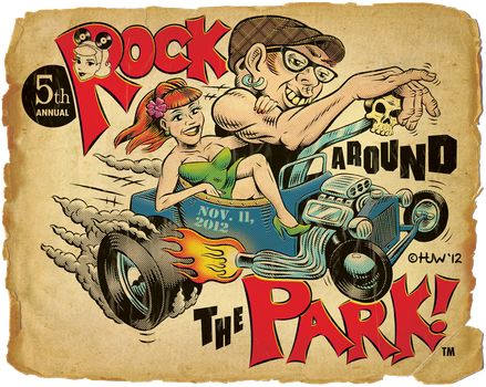 Rock Around The Park 2012 - 'Distressed' by Huwman