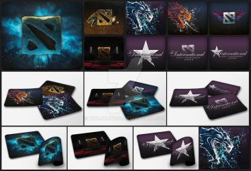 Mousepad collection - Dota2 by wolfartred