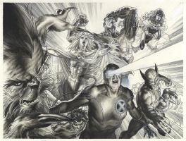 ASTONISHING XMEN  LITHO by simonebianchi