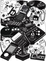 Joysticks and Controllers by ym-graphix