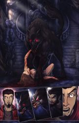 Night Wolf Comic Book Issue #1 Page #4 Color by RAM-Horn