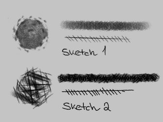 Firealpaca Sketch Brushes by melancholiea