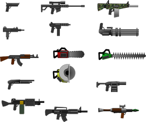 Mutant Zombie Monsters 2 Weapons Sprite Sheet by AscendedArts