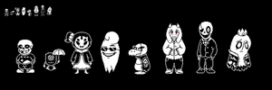 Most of Funky Fable's Cast Sprites by EllistandarBros
