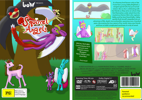 Squirrel Angels DVD Cover by unicorn-foal