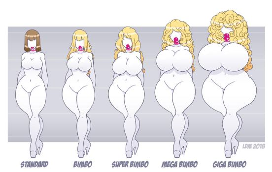 -:Bimbo Transformation Chart:- by Lorddragonmaster