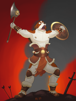 Hugo the Barbarian - Commission by BlackSpotDesign