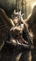 Golden Armor Angel by ACWart
