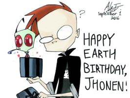 Happy Birthday Jhonen! by MoonlightWolf17